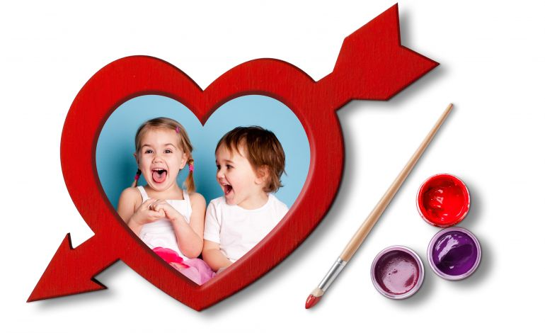 Çocuklardan sevdiklerine 'kalpli çerçeve'