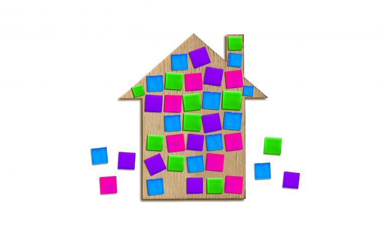 Çocuklar Mozaik Yapıyor
