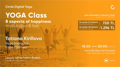 YOGA CLASS 8 aspects of happiness - June to November