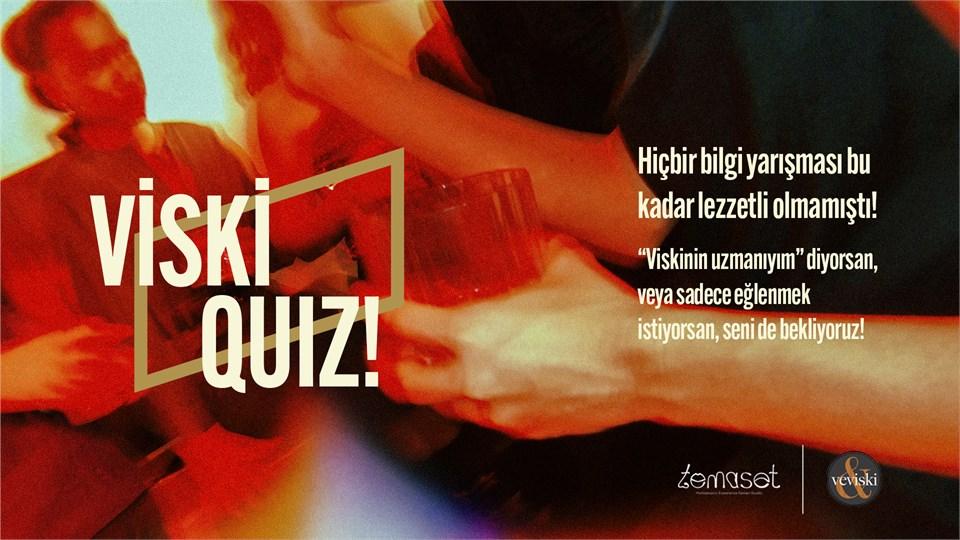 Barış Mercan ile Viskiquiz (interaktif, eğlenceli, tadımlı ve ödüllü yarışma)