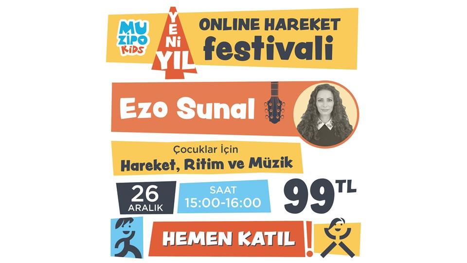 Muzipo Kids Ezo Sunal ile Hareket, Ritim ve Müzik Atölyesi   ONLINE