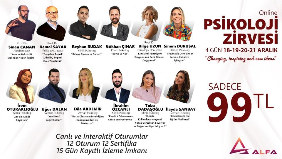 Online PSİKOLOJİ ZİRVESİ / 18-19-20-21 Aralık