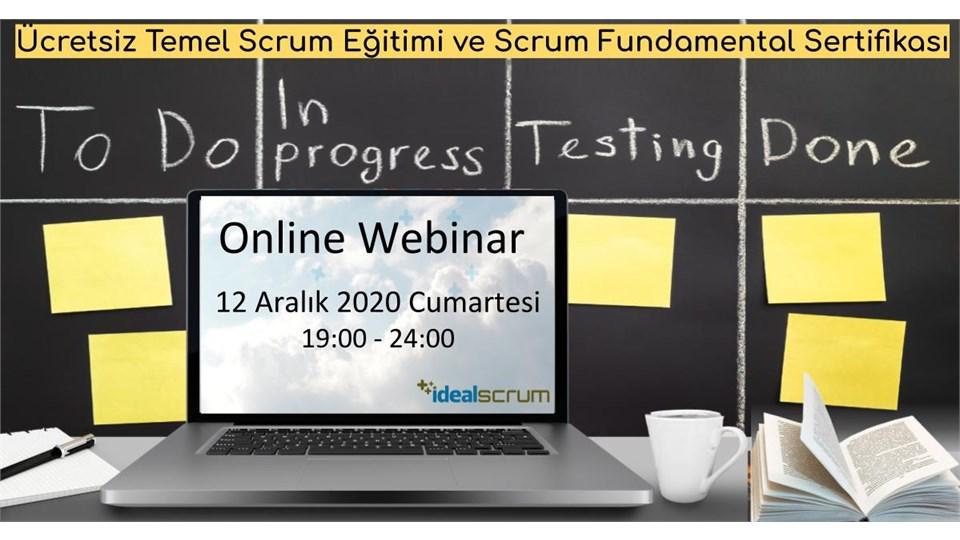 Ücretsiz Temel Scrum Webinar ve Eğitimi – Uluslararası Scrum Fundamentals Sertifikasyonu