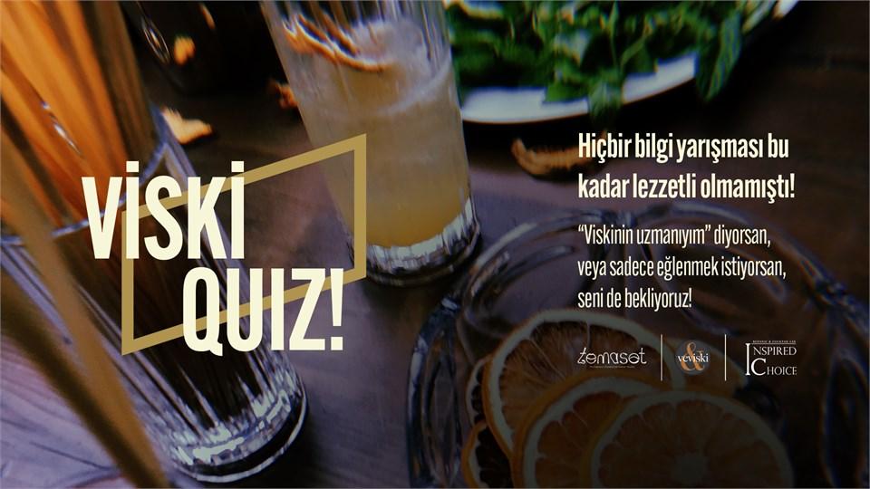 Yeni Yılda Tekrar Viskiquiz (Barış Mercan ve Onur Balk'ın katılımıyla interaktif, eğlenceli, tadımlı ve ödüllü yarışma)