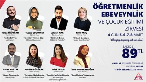 ÖĞRETMENLİK / EBEVEYNLİK ve ÇOCUK EĞİTİMİ ZİRVESİ / 5-6-7-8 Mart 2021