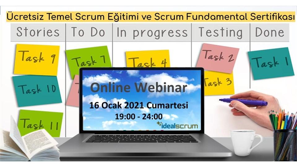 Ücretsiz İngilizce Temel Scrum Webinar - Online Eğitim ve Uluslararası Sertifikasyon