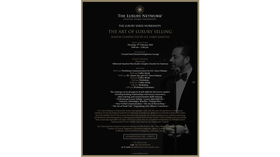 THE LUXURY NETWORK - THE ART OF LUXURY SELLING