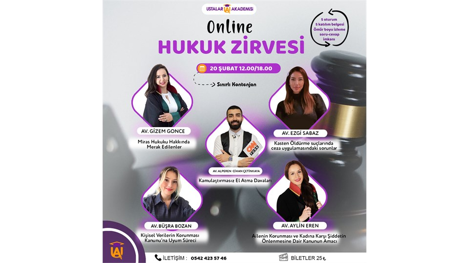 Ustalar Akademisi Online Hukuk Zirvesi / 2