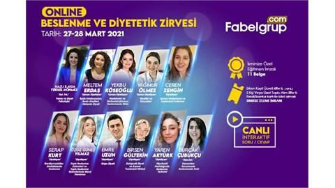 Online Beslenme ve Diyetetik Zirvesi 27-28 Mart 2021