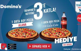 Domino's, Yeni Kampanyasıyla Keyifleri 3'e Katlıyor