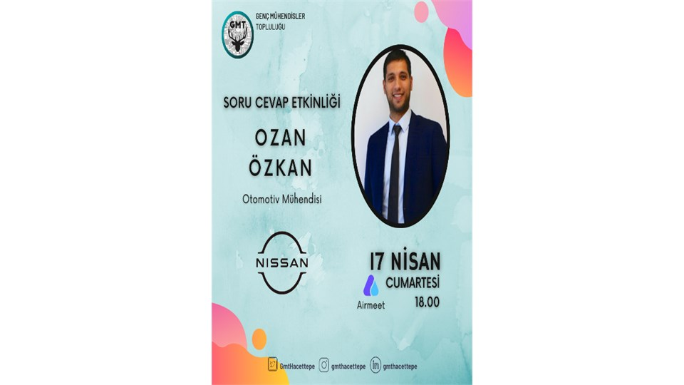 Ozan Özkan ile Soru Cevap Etkinliği