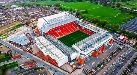 Anfield, Highbury, Old Trafford San