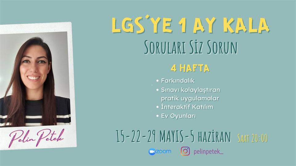 LGS'YE 1 AY KALA SORULARI SİZ SORUN