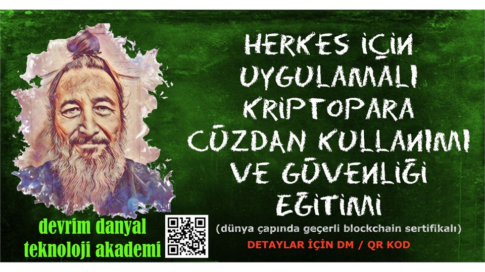 ONLINE SERTİFİKALI - Uygulamalı Kriptopara Cüzdan Kullanımı ve Güvenliği Eğitimi - 13 Mayıs