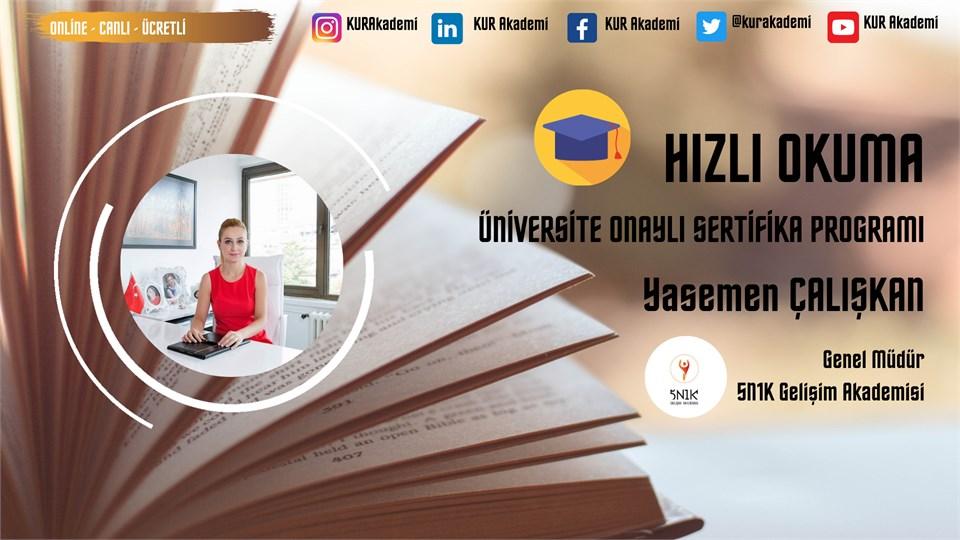 Hızlı Okuma Üniversite Onaylı Sertifika Programı