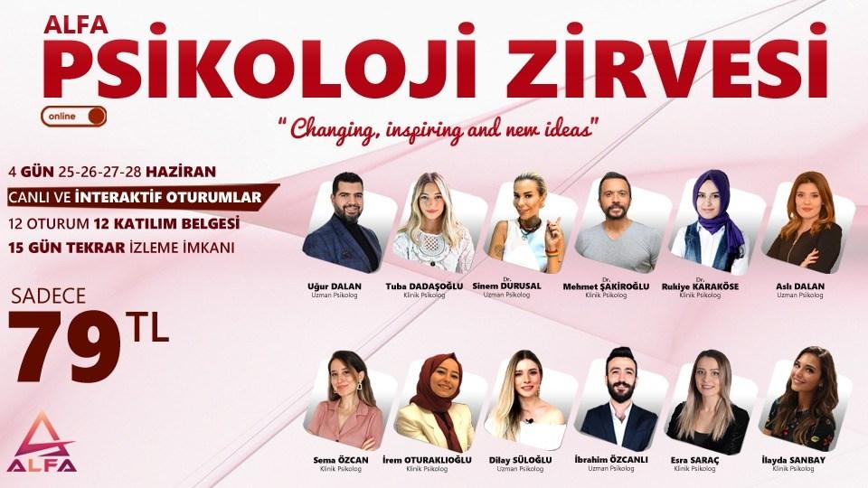 Online PSİKOLOJİ ZİRVESİ / 25-26-27-28 Haziran