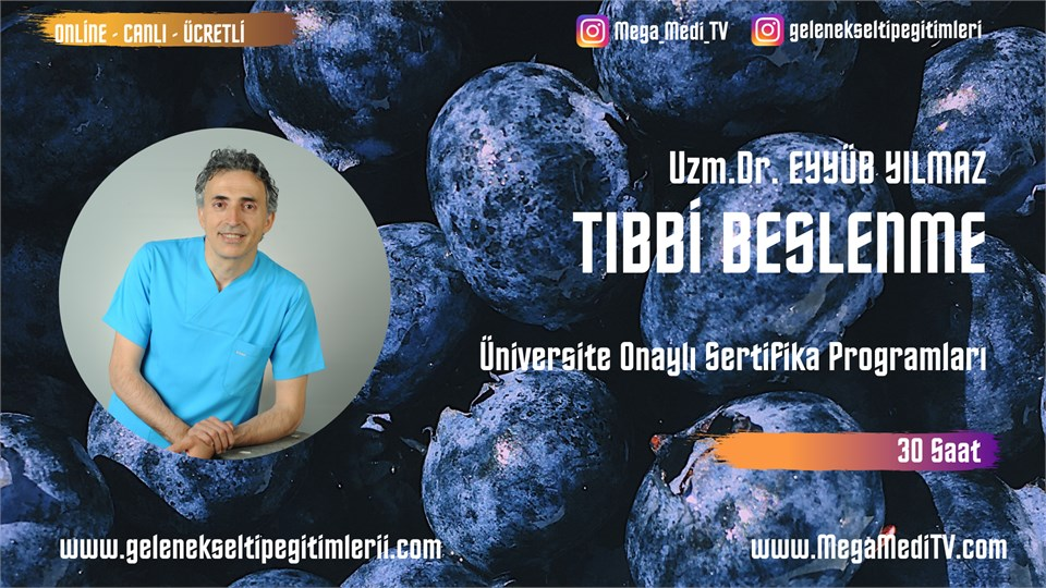 TIBBİ BESLENME Üniversite Onaylı Sertifika Programı