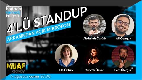 Boğaziçi Komedi Kulübü: 4'lü Standup + Açık Mikrofon