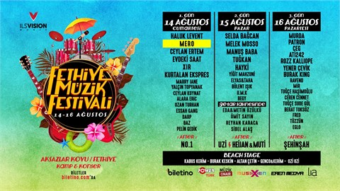 Fethiye Müzik Festivali (14-15-16 Ağustos)