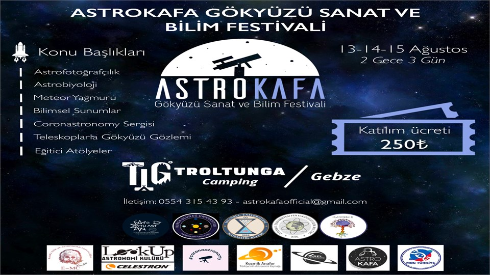 Astrokafa Gökyüzü Sanat ve Bilim Festivali