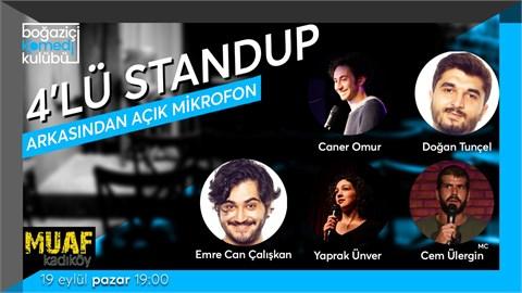 Boğaziçi Komedi Kulübü: 4'lü stand-up + Açık Mikrofon