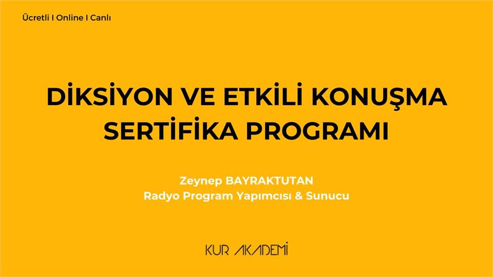 Diksiyon ve Etkili Konuşma Sertifika Programı