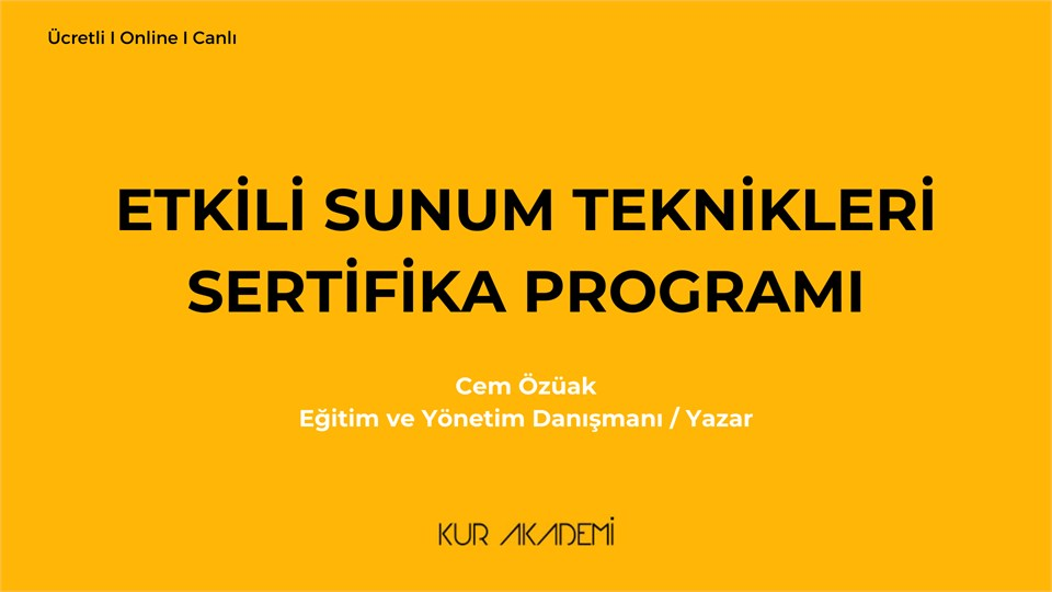 Etkili Sunum Teknikleri Sertifika Programı