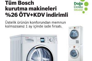 Tüm Bosch Kurutma Makineleri Ekim`de %26 ÖTV+KDV İndirimli