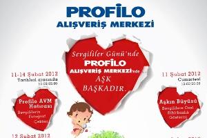 Sevgililer Günü'nde Profilo Alişveriş Merkezi'nde Aşk Başkadir!