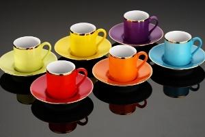 Rengarenk Kahve Sohbetlerine; Rüya Kahve Fincan Takımı