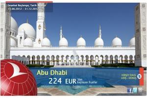 İstanbul-Abu Dhabi'ye Özel Fiyat