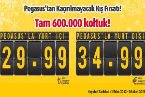 Pegasus'dan 600.000 Koltukluk Kaçırılmayacak Kış Kampanyası