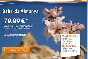 Bahar'da Yurtdışı 79,99 Euro!