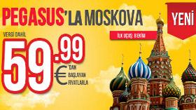Pegasus, Moskova Uçuşlarına Başlıyor