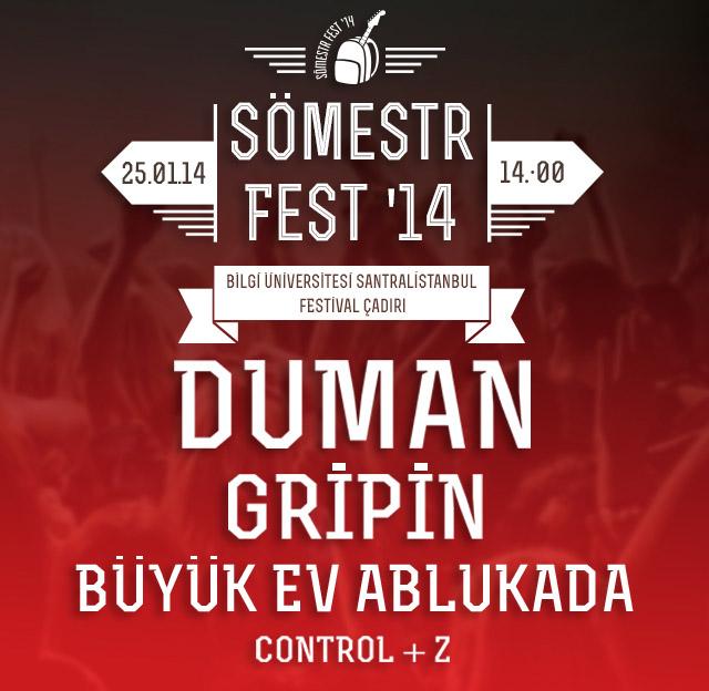 Duman - Gripin - Büyük Ev Ablukada – Sömestr Fest'14