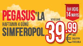 Pegasus, Kırım'ın Başkenti Simferopol'e Uçmaya Başlıyor