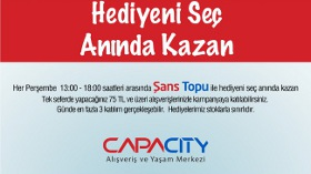 Capacity AVM'nin Şans Topları Kazandırıyor